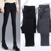 窄管褲 高腰牛仔褲女小腳秋冬季2020年新款百搭顯瘦修身黑色加絨緊身女褲 奇妙商鋪