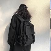 雙肩包 書包男韓版高中原宿大學生百搭雙肩包大容量暗黑背包女