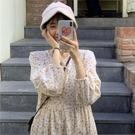 秋裝2020韓版新款碎花學生初戀裙寬鬆長袖過膝中長款娃娃洋裝女 小城驛站