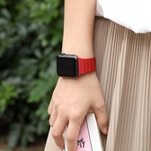 星圖皮質磁力扣表帶apple watch1/2/3/4/5代s蘋果手表男女38mm42潮薄款iwatch回環【米家科技】