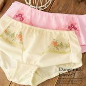 【露娜斯】春氛夢境。浪漫雪紡蕾絲小褲【粉/黃】台灣製P8132