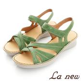 【La new】PU氣墊涼鞋(女223065264)