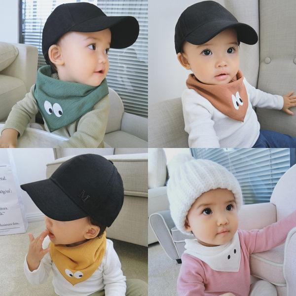 嬰兒圍頭 眼睛三角女寶寶口水巾 嬰兒吃飯圍兜圍嘴 嬰幼兒防水食飯兜嬰兒圍頭【特惠一天】