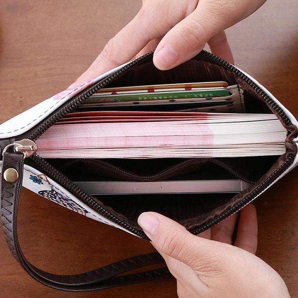 手拿包女可愛超薄長款原宿軟妹女士錢包INS零錢包手機包小包手包