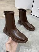 中筒靴 瘦瘦馬丁靴2021年秋季新款秋冬韓版ins網紅單靴中筒小短靴女 【99免運】