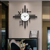簡約北歐設計感靜音掛鐘創意客廳鐘表個性時尚裝飾時鐘石英鐘 GB5085『樂愛居家館』TW