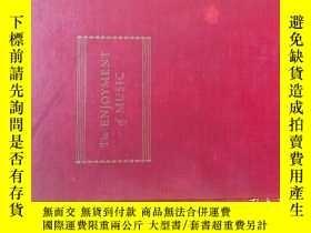 二手書博民逛書店《The罕見Enjoyment Of Music》第一版於195