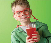 搞怪DIY眼鏡吸管 整人玩具