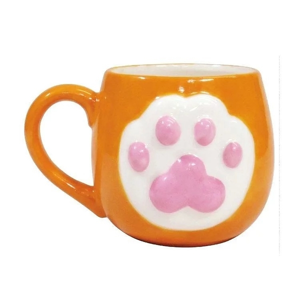 【sunart】日本sunart 馬克杯 - 橘貓 High five 趣味 送禮 可愛 貓咪系列