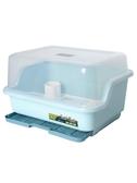 廚房碗筷收納盒置物架放碗碟瀝水架收納箱帶蓋家用儲物架塑料碗柜 【免運】