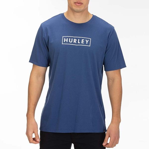 Hurley  M BNZ BOXED SS BLACK/(PINK TINT)  T恤-藍(男)