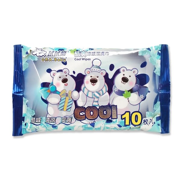 拭拭樂 酷爽涼感潔膚巾(10抽)【小三美日】$19