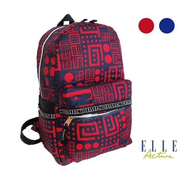 Backbager 背包族【ELLE Active】Back to school系列 復古風後背包 紅色/藍色