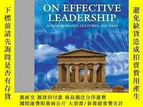 二手書博民逛書店On罕見Effective Leadership: Across Domains Cultures And Era
