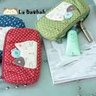 化妝包~雅瑪小舖日系貓咪包 啵啵貓點點布化妝包/護照夾/收納袋/拼布包包