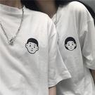 情侶裝 網紅ins超火情侶短袖T恤女夏裝韓版潮原宿學生蹦迪寬鬆半袖上衣服