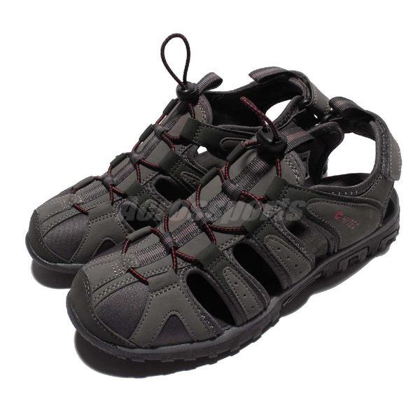 HI-TEC Cove 護趾涼鞋 灰 桃紅 戶外涼鞋 水陸兩棲 高機能性 男鞋【PUMP306】 O006192056