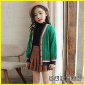 兒童毛衣 女童毛衣秋裝兒童針織開衫外套