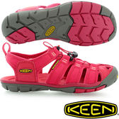KEEN 1008769紅色 Clearwater CNX 女戶外護趾涼鞋 水陸兩用鞋/沙灘戲水拖鞋 東山戶外