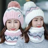 帽子女季韓版潮可愛騎車針織帽保暖月子帽百搭天毛 【快速出貨】