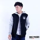 Big Train 男款貼標棒球連帽外套-黑-B3019188