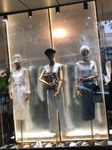 模具 服裝模特道具女帶頭半身絲絨布韓版金彩色婚紗店櫥窗假人體架 創想數位DF