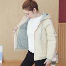 女生外套時尚棉服 女士外套運動棒球服 韓版外套百搭外套 潮流羊羔毛短款上衣 休閒夾克外套
