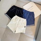 男童牛仔短褲 男童針織牛仔短褲兒童中小童寬鬆夏季休閒薄款洋氣褲子男孩五分褲-Ballet朵朵
