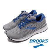 【BROOKS】男 支撐型避震緩衝運動健行鞋-超寬楦『灰/藍』110307-4E-051 功能鞋.多功能鞋.休閒鞋