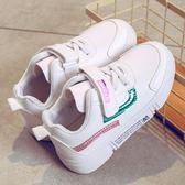 女童鞋子秋季新款韓版兒童運動鞋女孩休閒板鞋中大童小白鞋男