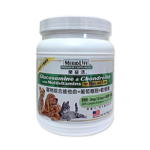 樂益活 寵物綜合維他命+葡萄糖胺+軟骨素配方-犬貓專用 700公克