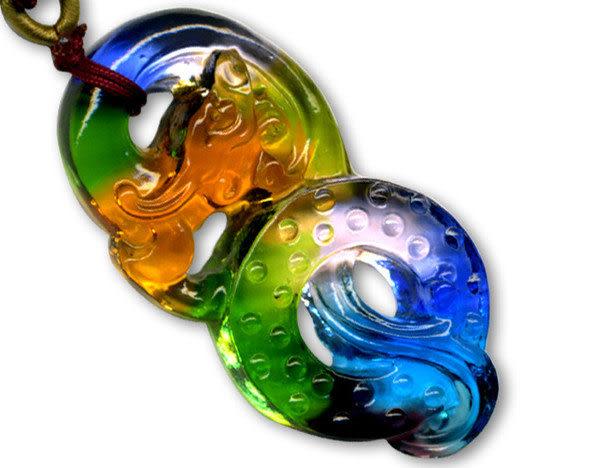 鹿港窯~居家開運水晶琉璃項鍊~發發龍 附精美包裝◆免運費送到家◆