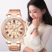 【亞洲限定】CITIZEN Eco Drive 風采動人玫瑰金光動能女錶 FB1432-55X 公司貨5年延長保固