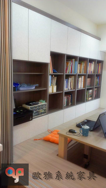 【歐雅系統家具】 合室跳色書牆