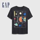 Gap 男童 宇宙主題印花短袖T恤 573657-深藍灰色