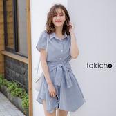 東京著衣-tokichoi-青春洋溢下擺不規則設計前綁結洋裝-S.M.L(190193)
