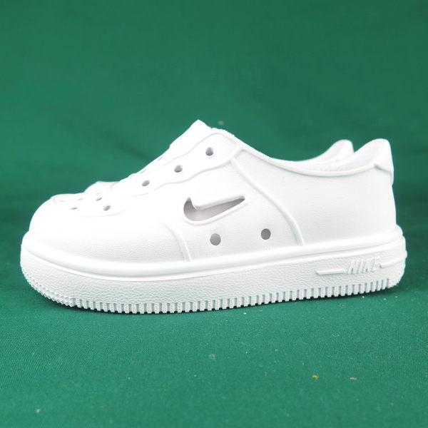 NIKE FOAM FORCE 1 小童鞋 AQ2442100 涼鞋 洞洞鞋 白【iSport愛運動】