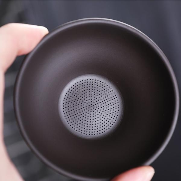 宜興紫砂茶漏茶濾工藝功夫茶具分茶過濾器創意漏斗 茶渣過濾網架