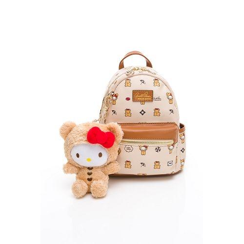 【Arnold Palmer包】Hello Kitty聯名 - 小後背包 SPOIL / 熊愛你系列-咖色