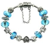 手鍊 串珠-水晶琉璃飾品水藍生日聖誕節交換禮物女配件2款73ay26【時尚巴黎】
