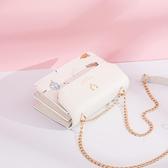 斜背包 夏季包包女2021新款潮時尚小眾設計側背鍊條斜背包學生少女小方包 晶彩 99免運