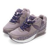 PLAYBOY魅力特調 豹紋拼接氣墊運動鞋-紫