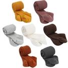 女童褲襪 糖果色棉質透氣褲襪彈性針織襪 坑條時尚設計棉襪 88625
