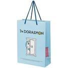 小禮堂 哆啦A夢 直式方形手提紙袋 大提袋 禮物紙袋 包裝紙袋 禮品袋 (藍 任意門) 4973307-53718
