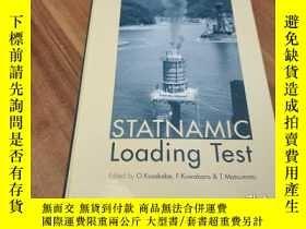 二手書博民逛書店STATNAMIC罕見Loading testY167789 外文出版 外文出版