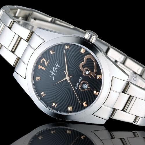 STAR 時代 甜蜜雙心石英錶 9T1603-161S-D