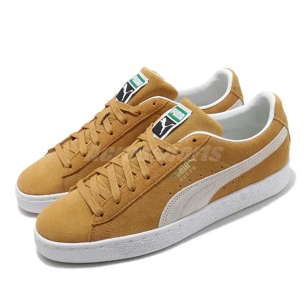 Puma 休閒鞋 Suede Classic XXI 麂皮 黃 白 基本款 男鞋 女鞋 運動鞋【ACS】 37491505