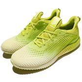 adidas 慢跑鞋 AlphaBounce EM M 黃 螢光黃 白 漸層 男鞋 運動鞋【PUMP306】 BW1200