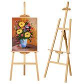 icolour實木畫架畫板套裝素描寫生4K畫板支架式油畫架成人美術繪畫黃松折疊畫架 生活樂事館