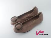 Velle Moven 典雅圓環飾包鞋  軟Q舒適好穿 豆沙色